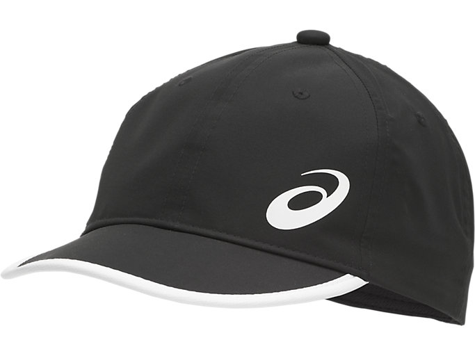 Front Top view of PERFORMANCE CAP, PERFORMANCE BLACK/BRILLIANT WHITE