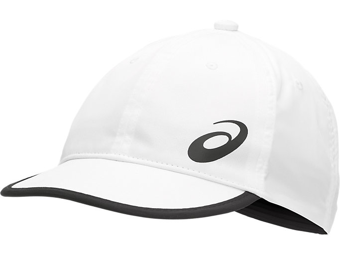 Front Top view of PERFORMANCE CAP, BRILLIANT WHITE/PERFORMANCE BLACK