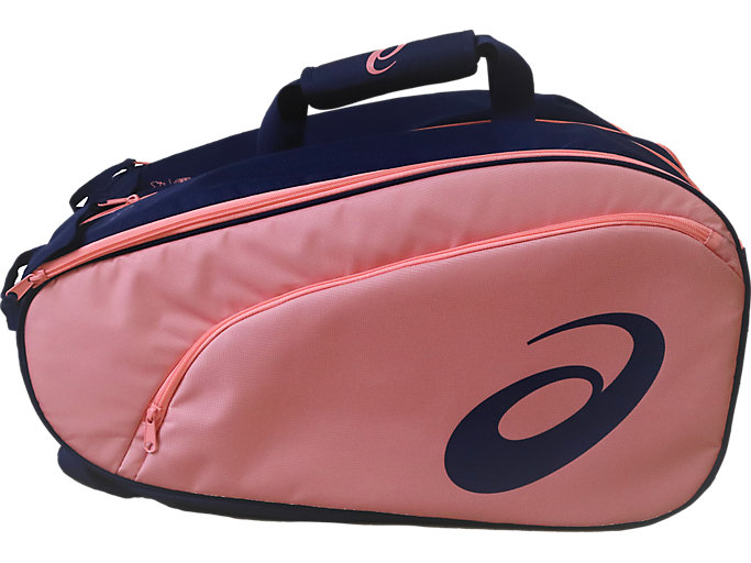Front Top view of PADEL BAG, PEACOAT/GUAVA