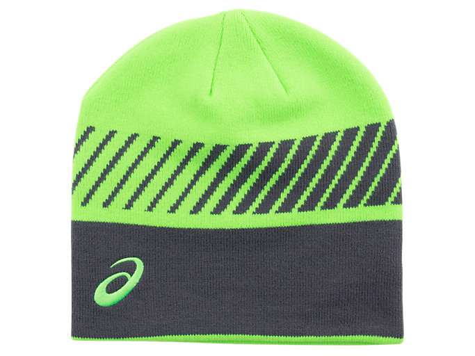 Back view of WB BEANIE, GREEN GECKO