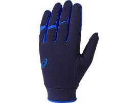 ウォームアップ用手袋(両手), アシックスブルー杢