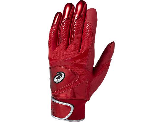 バッティンググローブ カラー 手袋 (両手用), レッド