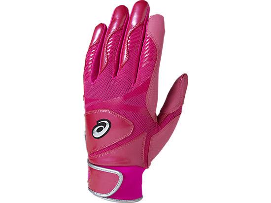 バッティンググローブ カラー 手袋 (両手用), ディバピンク杢