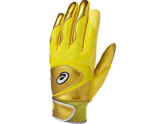 バッティンググローブ カラー 手袋 (両手用), イエロー