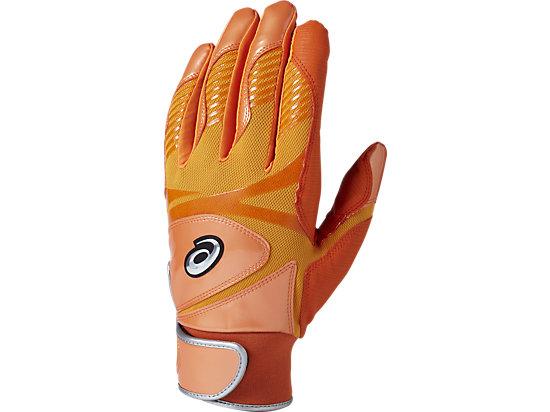 バッティンググローブ カラー 手袋 (両手用), SHOCKING ORANGE/BLACK