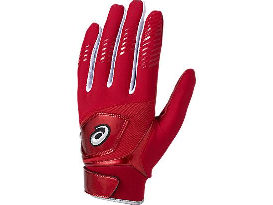 守備用 カラー 手袋 (片手用), レッド