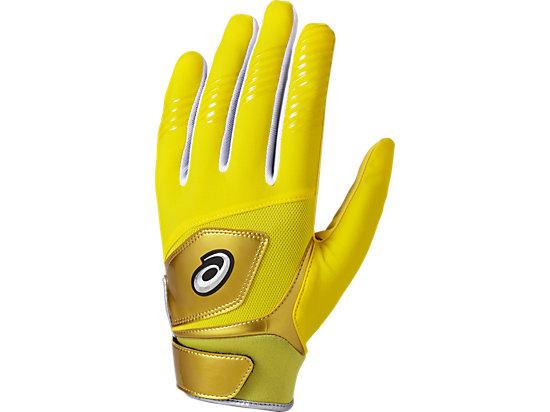 守備用 カラー 手袋 (片手用), イエロー