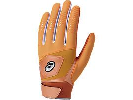 守備用 カラー 手袋 (片手用), SHOCKING ORANGE/BLACK