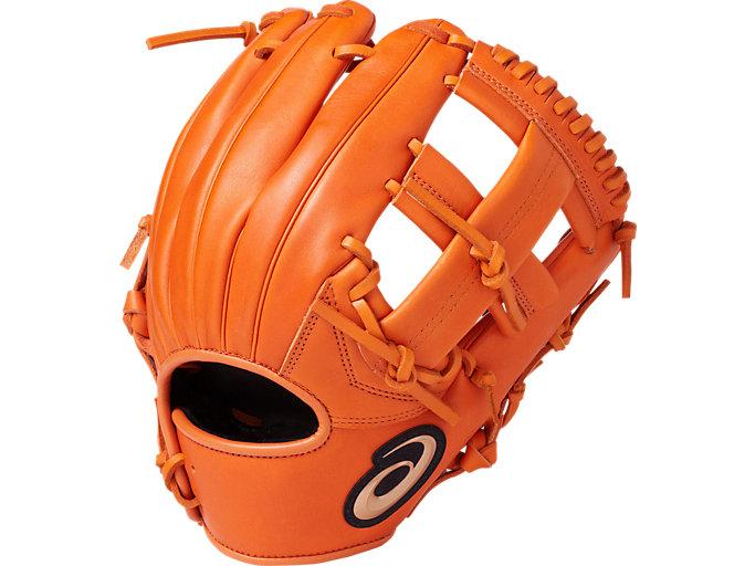 DIVE ダイブ 軟式用 グローブ 内野・オールポジション用 サイズ6 内野手用, オレンジ