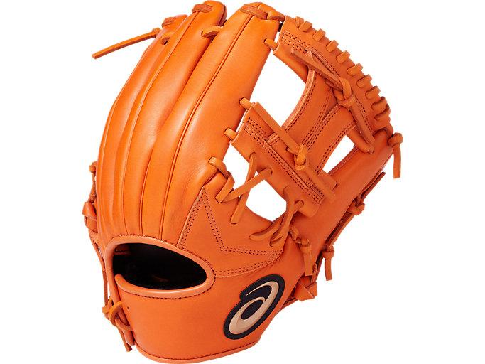 DIVE ダイブ 軟式用 グローブ 内野・オールポジション用 サイズ8 内野手用, オレンジ