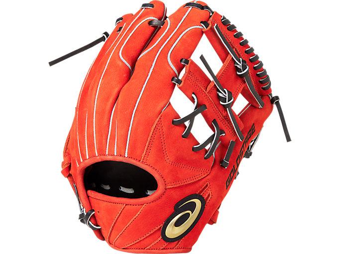 <ゴールドステージ>SPEED AXEL スピードアクセル 内野手用 内野手用, N.Rオレンジ×ブラック