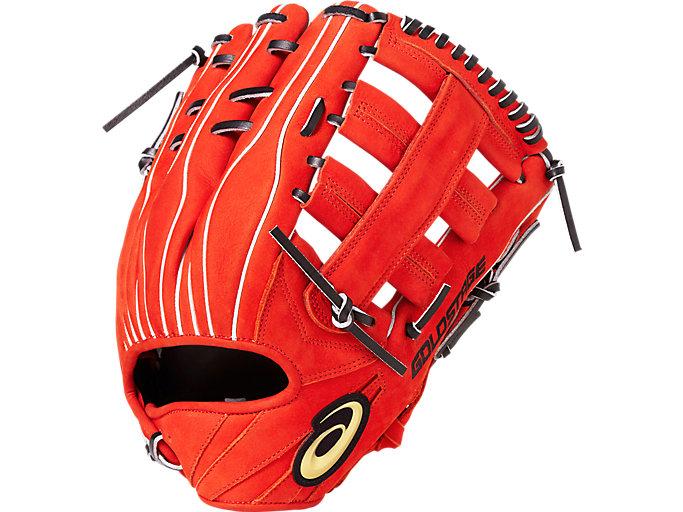 <ゴールドステージ>SPEED AXEL スピードアクセル 外野手用 外野手用, N.Rオレンジ×ブラック