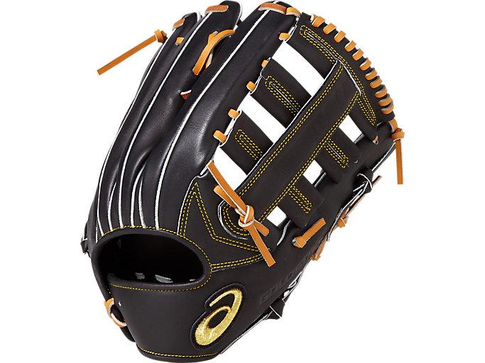 GOLD STAGE ROYAL ROAD ロイヤルロード 軟式用 グローブ 外野手用(タテ) サイズ12 外野手用, ブラック/ライトブラウン
