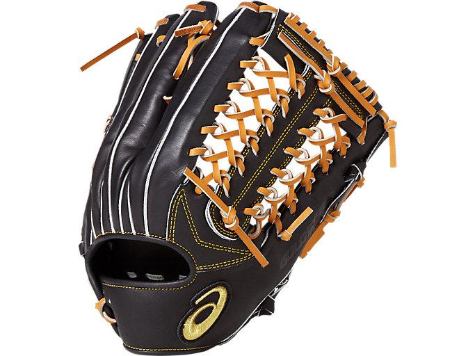 GOLD STAGE ROYAL ROAD ロイヤルロード 軟式用 グローブ 外野手用(タテ) サイズ14 外野手用, ブラック×Lブラウン