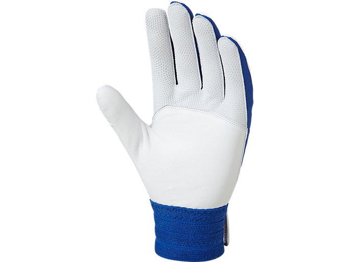 Back view of SPEED AXEL バッティング用手袋, ホワイト / ロイヤル