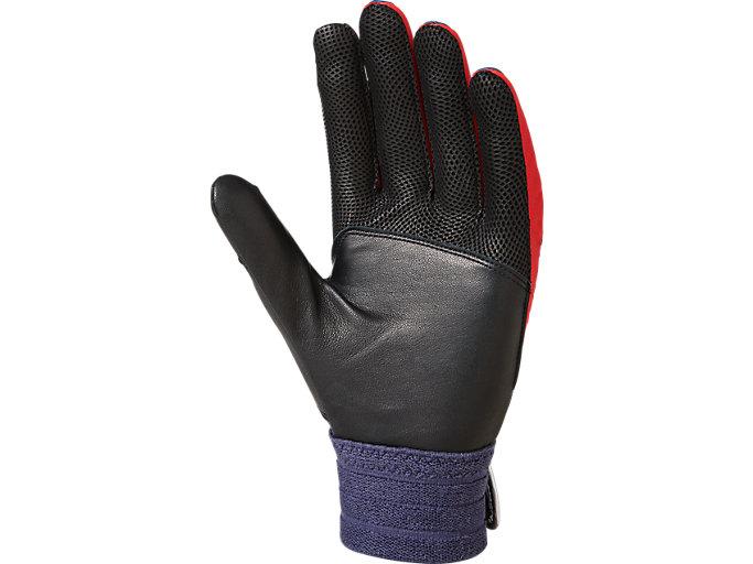 Back view of SPEED AXEL バッティング用手袋, ネイビー / レッド