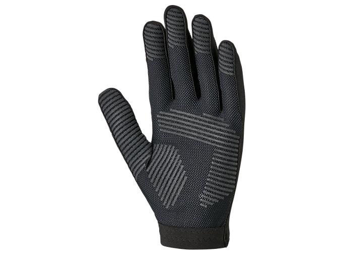 Back view of インナーグローブ 守備用手袋, ブラック×ブラック