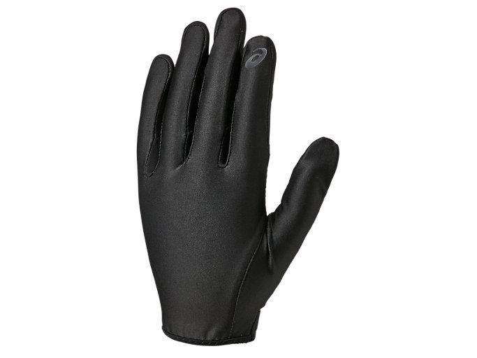 Front Top view of インナーグローブ 守備用手袋, ブラック×ブラック