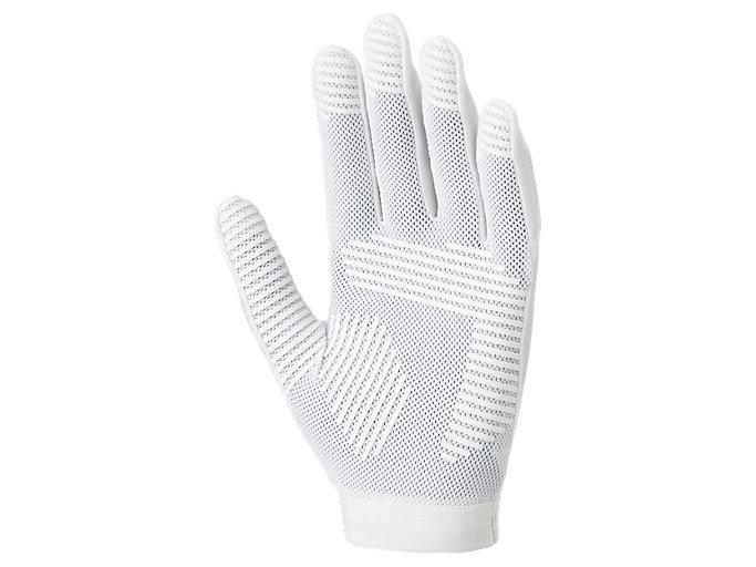 Back view of インナーグローブ 守備用手袋, ホワイト×ホワイト