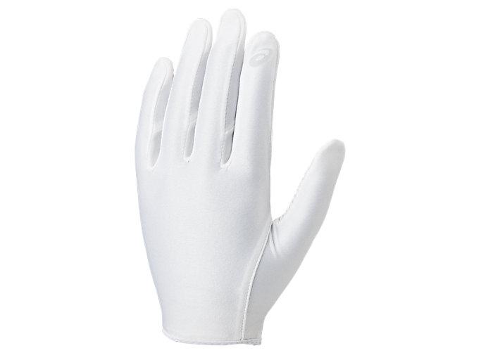 Front Top view of インナーグローブ 守備用手袋, ホワイト×ホワイト