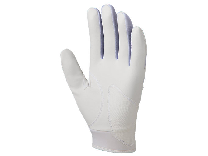 Back view of GOLDSTAGE バッティング用手袋, ホワイト×ホワイト