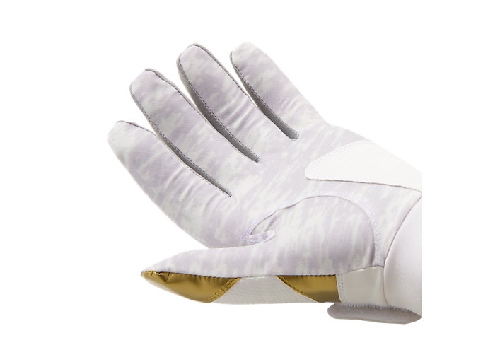 Alternative image view of GOLDSTAGE バッティング用手袋, ホワイト×ゴールド