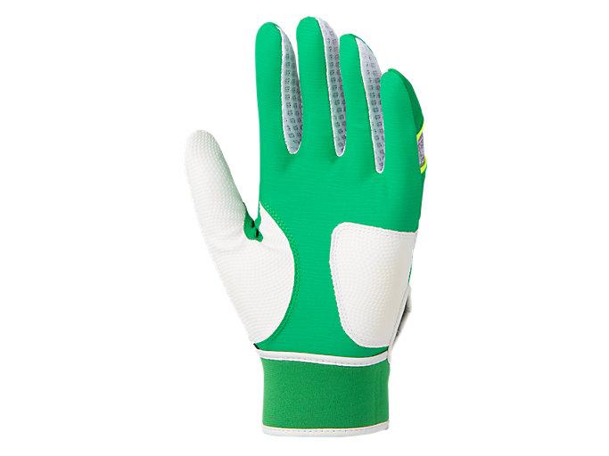 Back view of バッティング用カラー手袋, グリーン×ホワイト