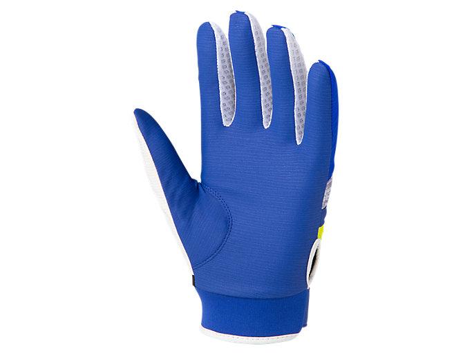 Back view of 守備用カラー手袋, ロイヤル×ホワイト