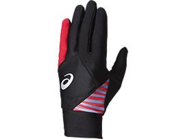 ジュニア用 ウォームアップ用手袋 (両手用), パフォーマンスブラック/フラッシュイエロー