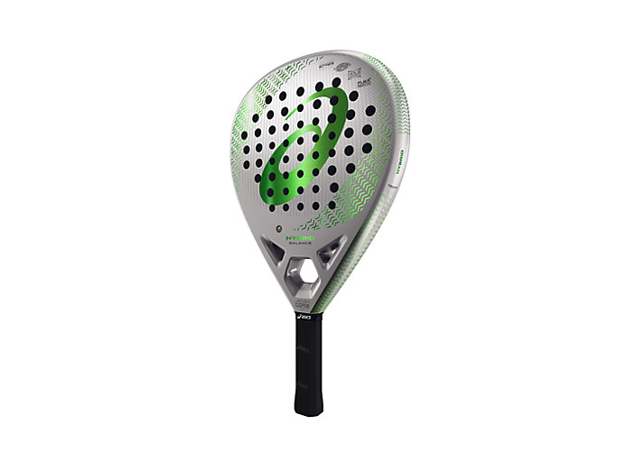 Front Top view of HYBRID BALANCE PADEL RACKET, GREEN CILANTRO