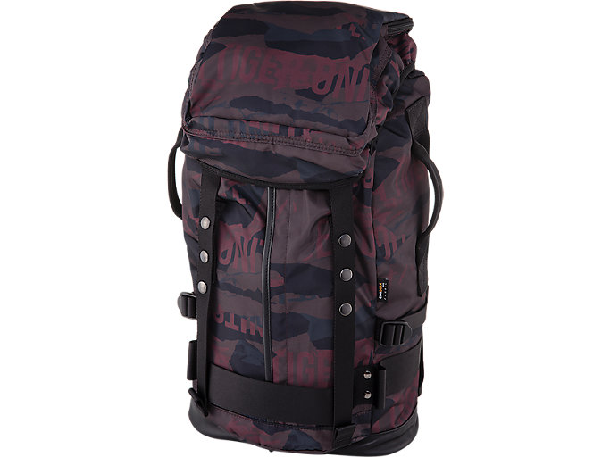 Front Top view of BACK PACK, BURGUNDY