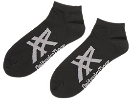 Front Top view of ANKLE SOCKS, PERFORMANCE BLACK/DARK GREY
