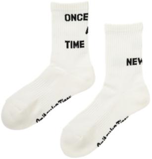 不對稱文字短襪