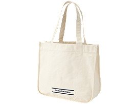 Front Top view of TOTE BAG, REAL WHITE