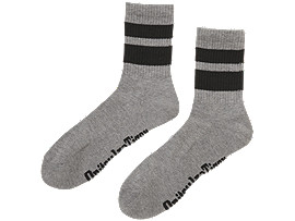 Front Top view of LANGE SOCKEN, DARK GREY