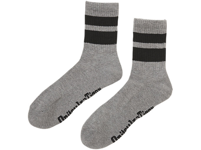 Front Top view of MIDDLE SOCKS, DARK GREY