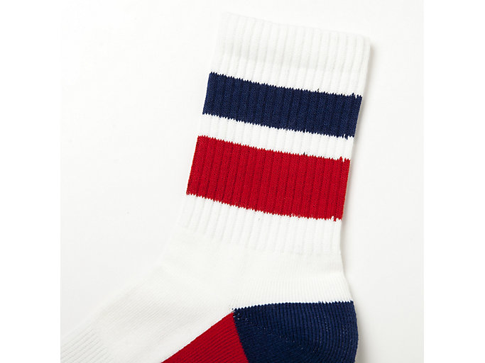 Alternative image view of MIDDLE SOCKS, REAL WHITE