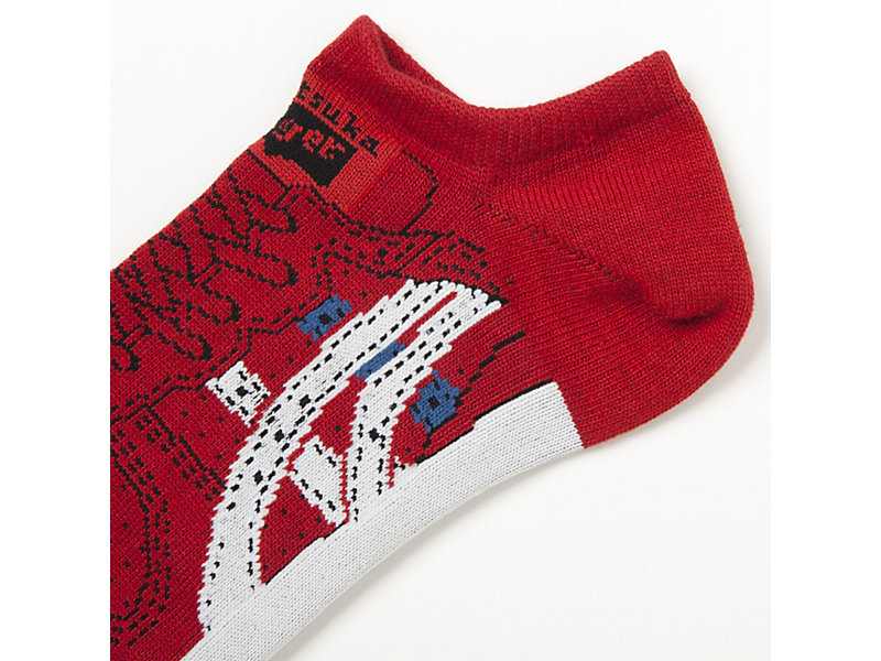 ANKLE SOCKS FIERY RED/REAL WHITE 5 Z
