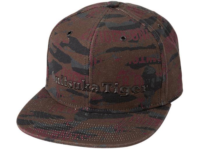 Front Top view of PRINTED CAP, BURGUNDY