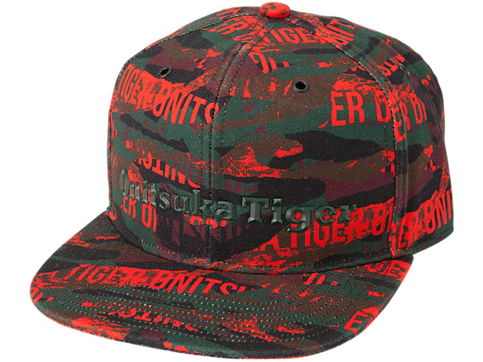 PRINTED CAP, FIERY RED