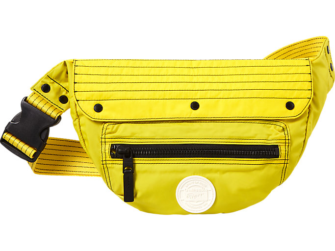 Front Top view of WAIST POUCH, TAI-CHI YELLOW