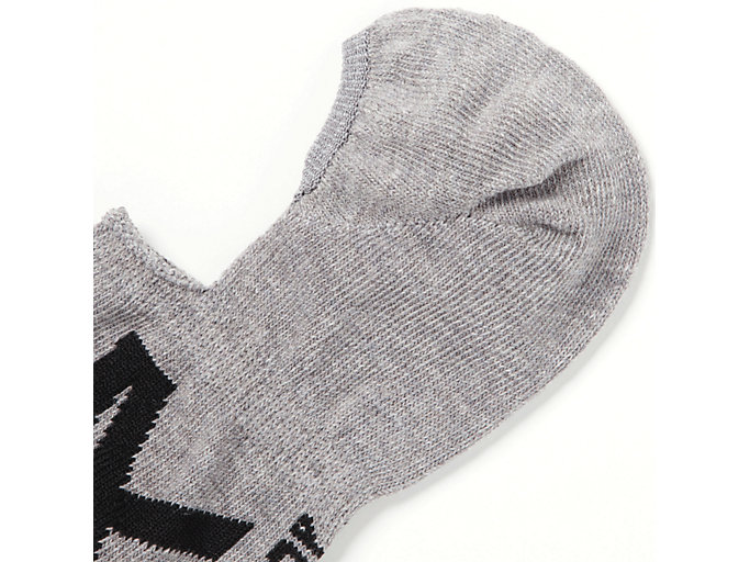 Alternative image view of INVISIBLE SOCKS, FEATHER GREY/PERFORMANCE BLACK