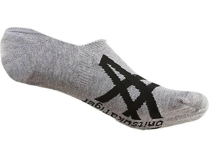 Back view of INVISIBLE SOCKS, FEATHER GREY/PERFORMANCE BLACK
