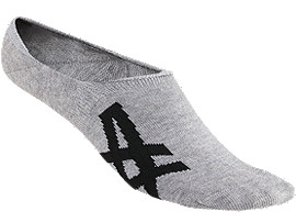 Front Top view of UNSICHTBARE SOCKEN, FEATHER GREY/PERFORMANCE BLACK