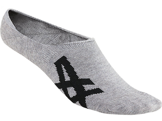 Front Top view of INVISIBLE SOCKS, FEATHER GREY/PERFORMANCE BLACK