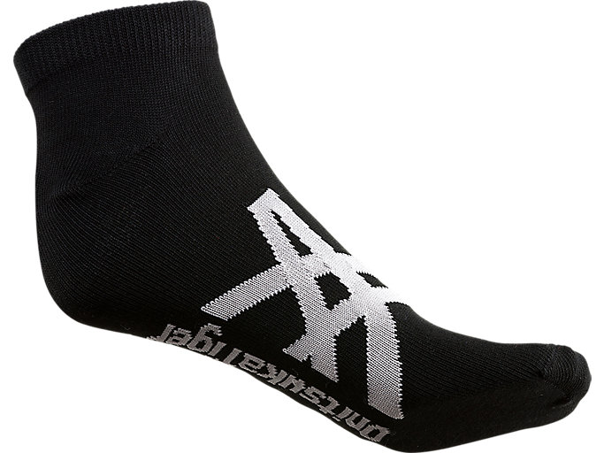 Back view of ANKLE SOCKS, PERFORMANCE BLACK/FEATHER GREY