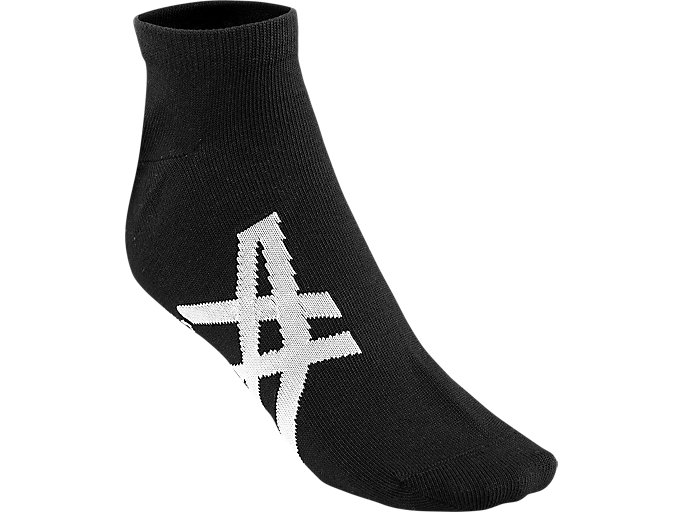 Front Top view of ANKLE SOCKS, PERFORMANCE BLACK/FEATHER GREY