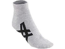Front Top view of CALCETINES TOBILLEROS, FEATHER GREY/PERFORMANCE BLACK