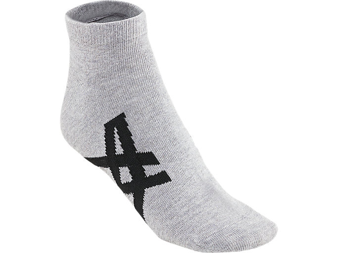 Front Top view of ANKLE SOCKS, FEATHER GREY/PERFORMANCE BLACK