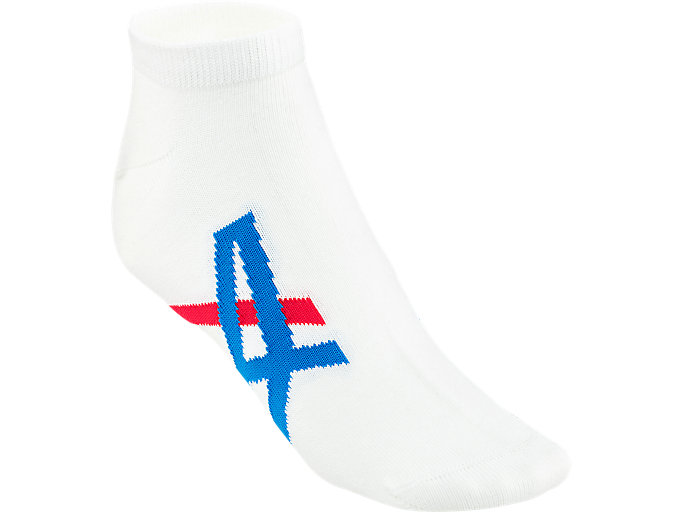 KNÖCHELSOCKEN, REAL WHITE/ASICS BLUE